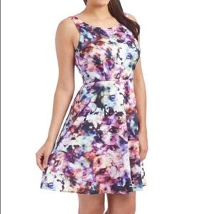 Jessica Simpson~ watercolor fit and flare dress 6